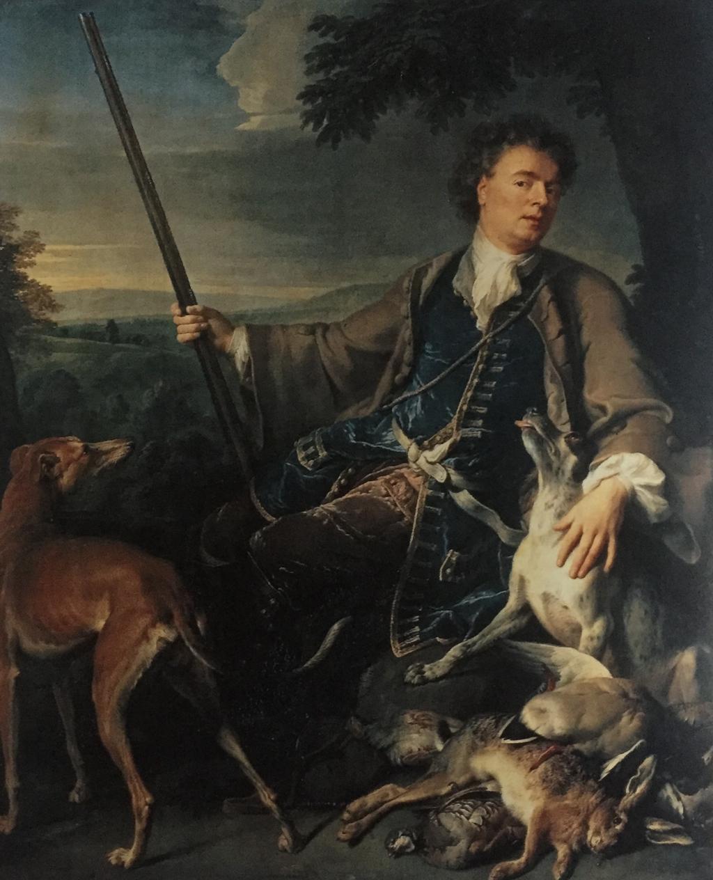 autoportret jako myśliwy;Alexandre-Francois Desportes 1661-1743
